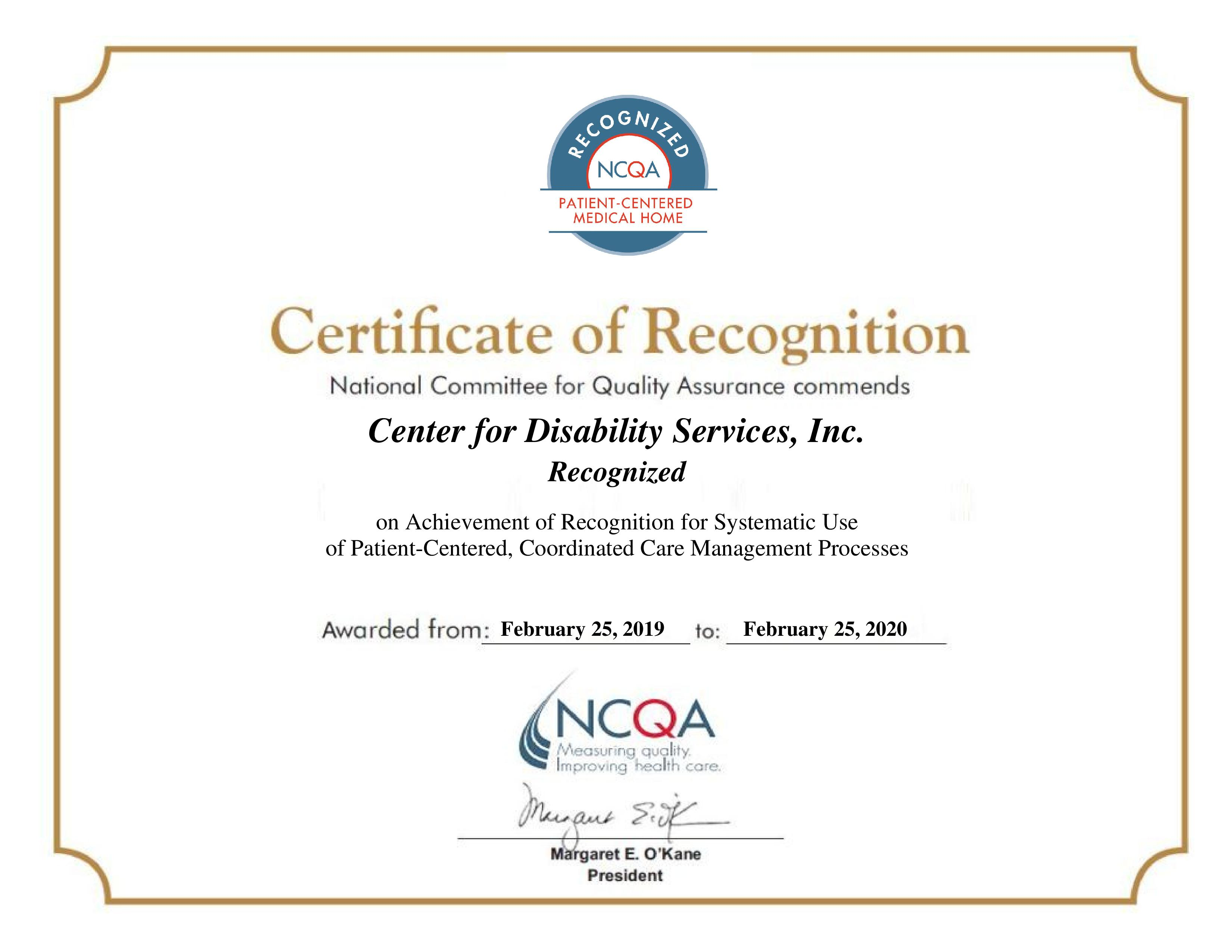 Center for Disability Services_NYS PCMH Certificate_Feb 25 2019_Feb 25 2   -page-001.jpg