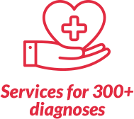 Services for more than 300 diagnoses